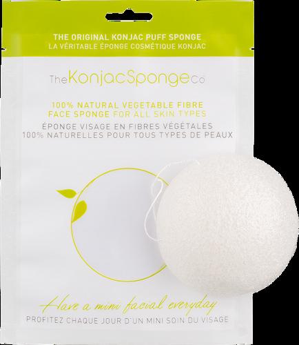 Gąbka Konjac do mycia twarzy i ciała biała uniwersalna 100% czysty Konjac