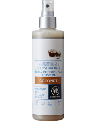 Urtekram Nawilżająca odżywka do włosów w sprayu z kokosem