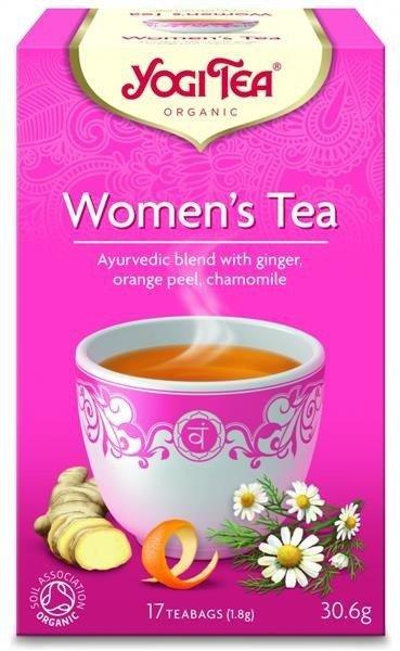 YOGI TEA Herbata DLA KOBIETY z imbirem, skórką pomarańczy i rumiankiem (Women's Tea)