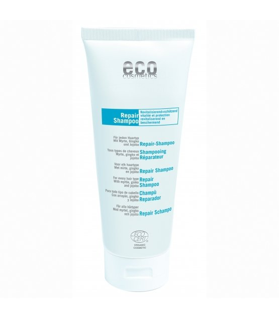 eco cosmetics Szampon regenerujący z liściem mirtu, gingko i jojobą, 200 ml