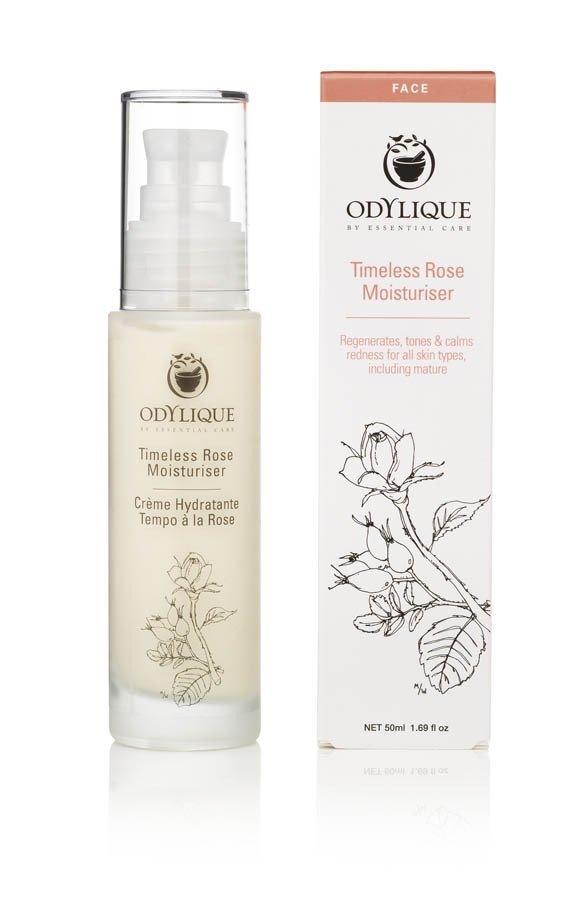Odylique by Essential Care Timeless organiczny przeciwstarzeniowy krem nawilżający z różą, głogiem, rokitnikiem, aloesem i olejem jojoba, 50 m