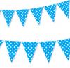 Chorągiewki, flagi 2 mb błękitne w białe kropeczki