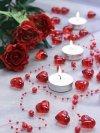 Kryształowe serca 2,1cm czerwone 30 szt