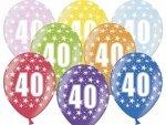 Balony na 40-te urodziny 14 cali mix kolor 1szt