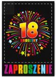 Zaproszenie na 18-ste Urodziny  Fajerwerki 1szt