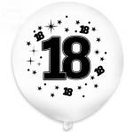 Balony białe z czarnym nadrukiem 18 - 1szt
