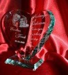 Statuetka Serce Kryształ podziękowania dla rodziców