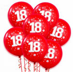 Balony czerwone z białym nadrukiem 18