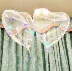 Balon serce transparentne z diodami LED
