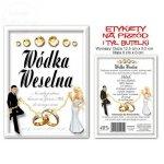 Etykiety samoprzylepne na wódkę weselną 50 szt