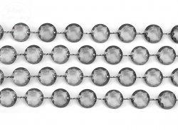 Girlanda kryształowa szara długość 1m