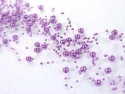 Girlanda perłowa kolor lilia 1,3m 5 szt GP3