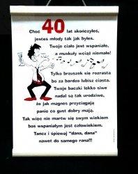 Dyplom pamiątkowy  dla 40-latka
