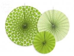 Rozety dekoracyjne zielone 3 szt RPK1-080