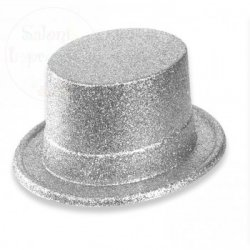 Cylinder  srebrny 12 cm - 1szt
