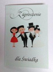 Zaproszenie ślubne dla ŚWIADKA 1 szt