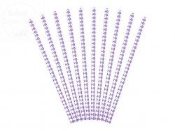Słomki papierowe Liliowe 19,5 cm - 10szt