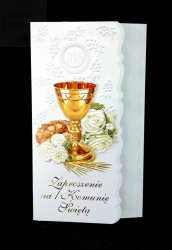Zaproszenie na I Komunię Świętą 1szt