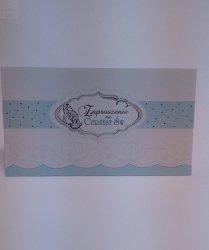 Zaproszenie na chrzest błękit 1szt
