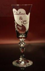 Kieliszki do szampana z grawerem prezent na ślub wesele