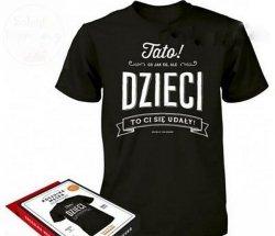 Koszulka Vintage  L- TATO co jak co ale DZIECI..