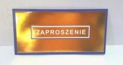 Zaproszenie Z06  złoto-niebieskie - 1szt