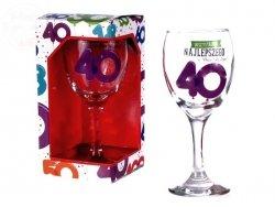 Kieliszek do wina Baloniki 40 Lat