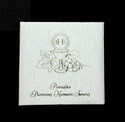Opakowanie Komunijne na płytę CD białe 1szt