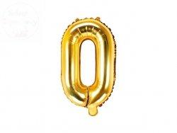 Balon foliowy Litera O 35 cm złoty