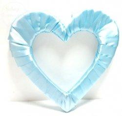 Serce styropianowe duże w kolorze błękitnym