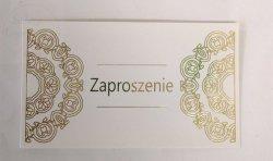 Zaproszenie okolicznościowe ze złotym ornamentem