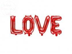 Balon foliowy Love 140x35 cm czerwony
