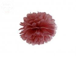 Pompon bibułowy w kolorze marsala 25cm 1szt