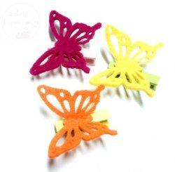 Motylek z filcu na klamerce - 1szt