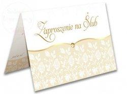 Zaproszenie ślubne z kolorowym nadrukiem - 1szt