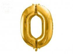 Balon foliowy  86 cm złoty cyfra 0