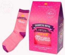 Skarpetki royal  Jej wysokość MAMA - różowe