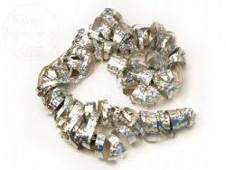 Serpentyna holograficzna srebrna 18 rolek