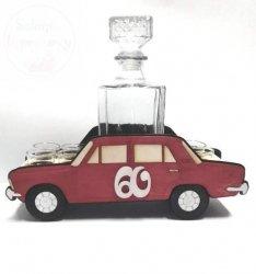 Karafka z kieliszkami FIAT 60 urodziny
