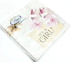 Serwetki na Chrzest  It's a GIRL ! - 20szt