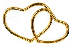 Obrączki serca złote kpl SBR