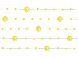 Girlanda perłowa kolor żółty 1,3m 5 szt