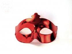 Maska Party -  karnawałowa czerwona 1szt