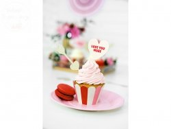 Papilotki na muffinki Sweet Love 6 szt 5x7,5x5 cm