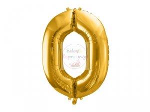 Balon foliowy 102 cm złoty cyfra 0