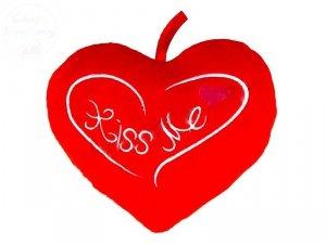 Serce poducha  Kiss Me  21 x 18 cm