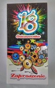 Zaproszenie  na 18 urodziny Osiemnastka 1szt
