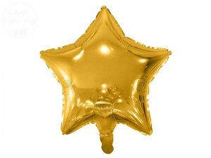 Balon foliowy Gwiazdka złota 48 cm