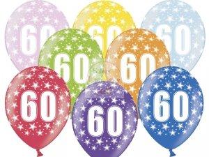 Balony 14 cali metalik mix kolor 60