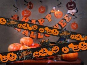 Taśma Dynie na Halloween   7,5x6m  1szt